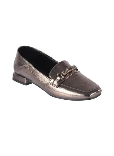 Mhd 142 Platin Kadın Günlük Ayakkabı Gümüş